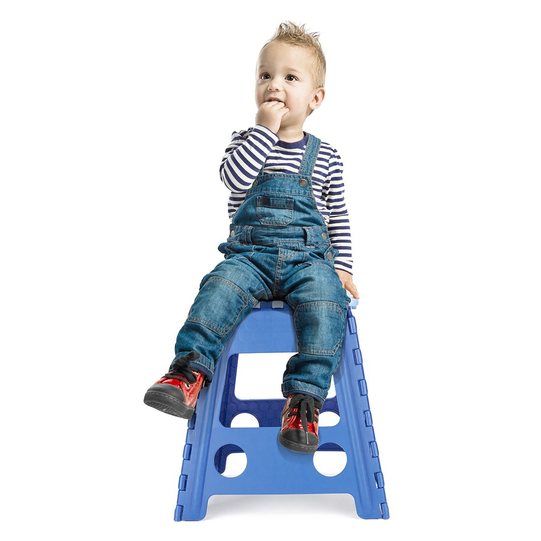 Acko 16 Inch Super Strong Folding Step Stool for Adults and Kids Kitchen Garden Usage Blue by Acko (Image #5)