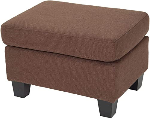 Christopher Knight Home Rosella Fabric Ottoman, Chocolate