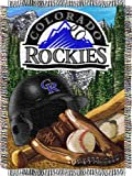 "MLB Colorado Rockies Home Field Advantage Woven Tapestry Throw, 48"" x 60"""