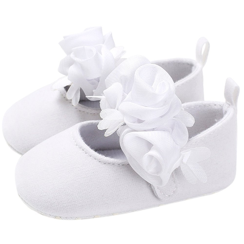 The Golden Swallow Baby Girls Mae Mary Jane Flat Infant Toddler Soft Sole Princess Prewalker Shoes