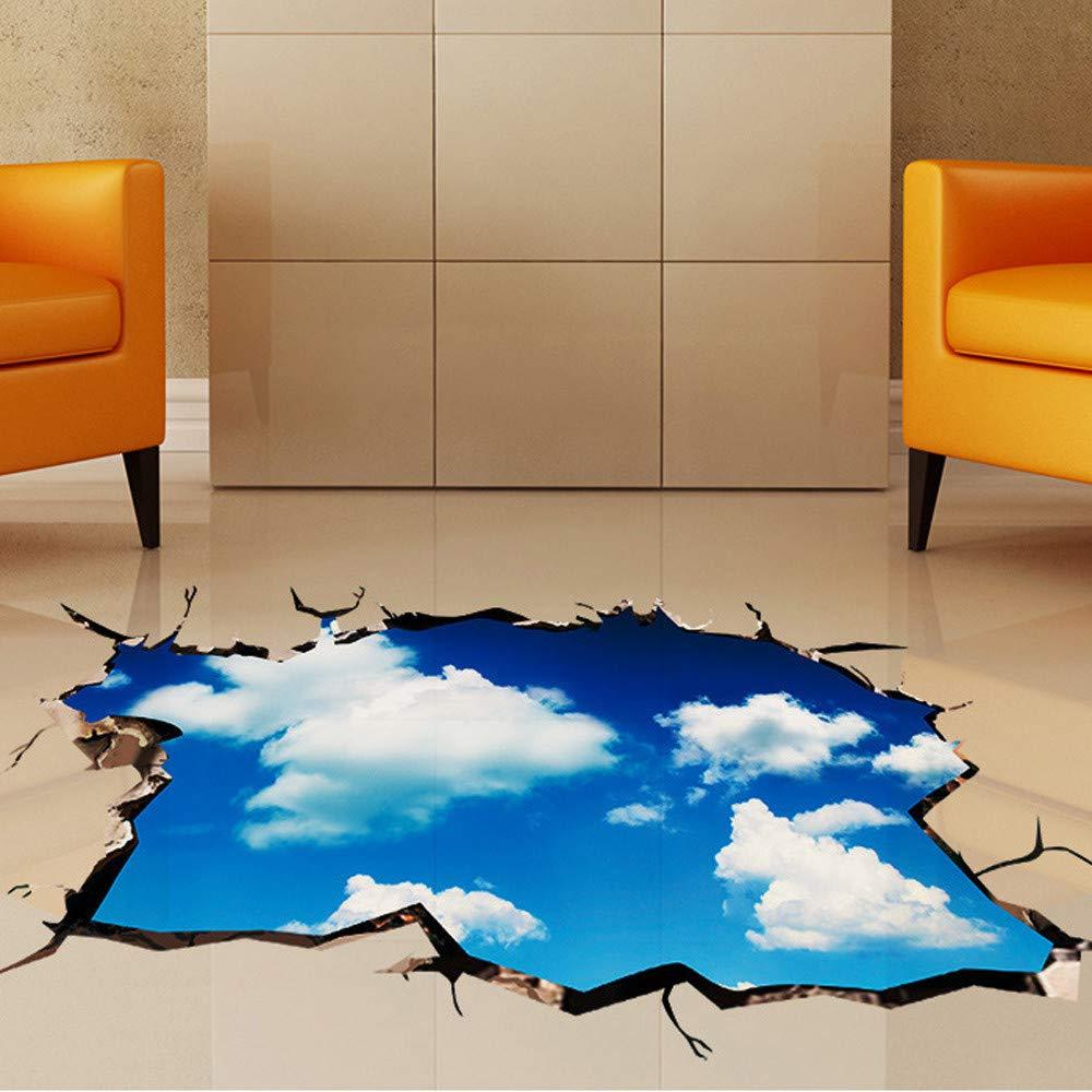 Decoracion de muebles, BaZhaHei, Etiqueta engomada del piso/pared del puente 3D Calcomanías de murales removibles Arte de vinilo Decoraciones de salas ...