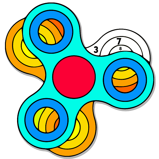Learn Art| Fidget Finger Spinner Coloring Pages For Kids How to ... | 512x512
