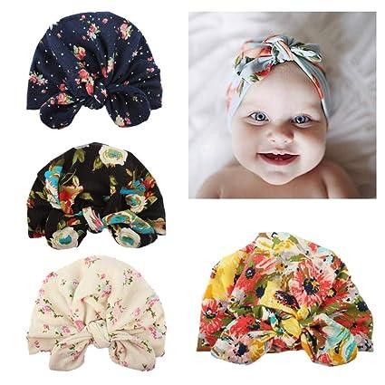 Baby Boy Girl Infant New Winter Warm Beanie Cotton Wrapped Cap Turban Hat