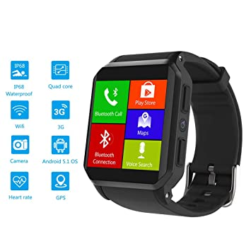 Amazon.com : DGSFES Smart Watch, Wi-Fi GPS Sports Watch with ...