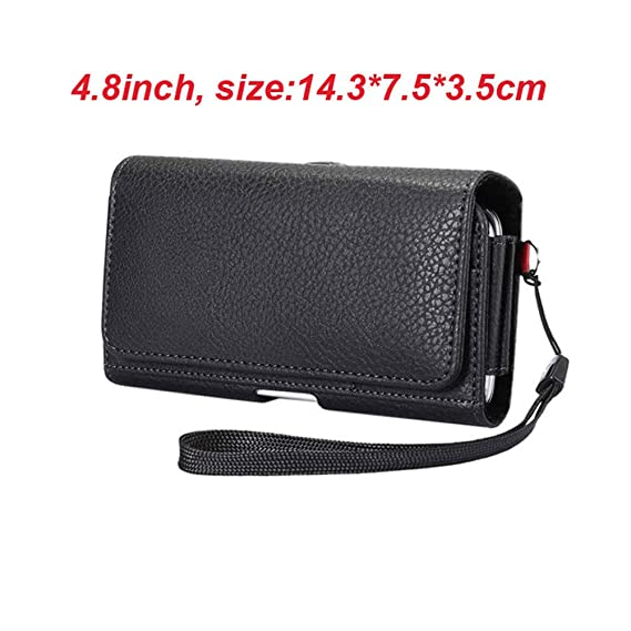 36922ef366225 Image Unavailable. Image not available for. Color  YIANG New PU Leather  Waist Packs Fanny Pack Men Casual Mobile Phone Bags ...