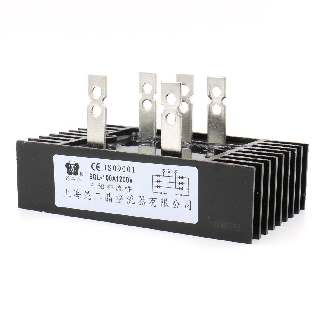 Baomain Heatsink Shape Bridge Rectifier SQL100A 1200V 3 Phase Diode Metal Case