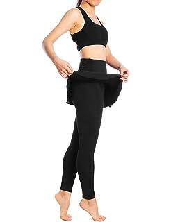 bfff7d5a8 JIMMY DESIGN Skirted Leggings - Women's Running Skirts Casual Gym Tennis  Skort with Leggings