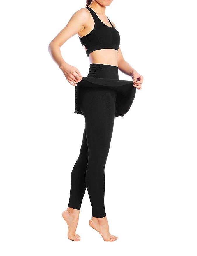 720ffb8ffc965 JIMMY DESIGN Skirted Leggings - Women's Running Skirts Casual Gym Tennis  Skort with Leggings: Amazon.co.uk: Sports & Outdoors
