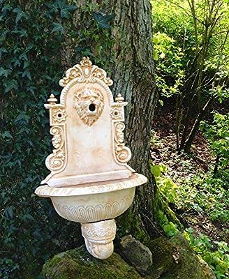 Antikas - lavamanos de pared jardín - lavamanos mediterráneo cabeza de león - fuentes decorativos jardín: Amazon.es: Jardín