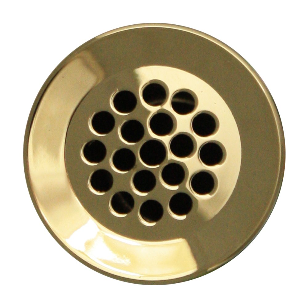 1 1//2-Inch Whitehaus WH735-PBRAS Grid Drain 2 1//8-Inch Polished Brass