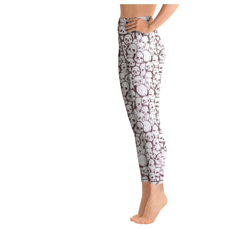Khaki Vintage Field Large Sunflowers Womens Girls High Waist Yoga Pants Stretchy Leggins Jogging