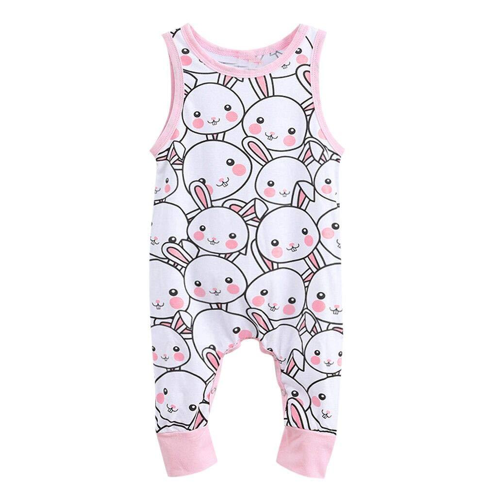 268a28dad1183 Amazon.com: Lookvv Newborn Baby Summer Outfit Cute Rabbit Print ...