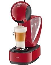 Krups Dolce Gusto Infinissima KP1705SC - Cafetera de cápsulas Nestlé Dolce Gustocon 15 bares de presión, depósito extraible, bandeja regulable a 3 alturas, color rojo