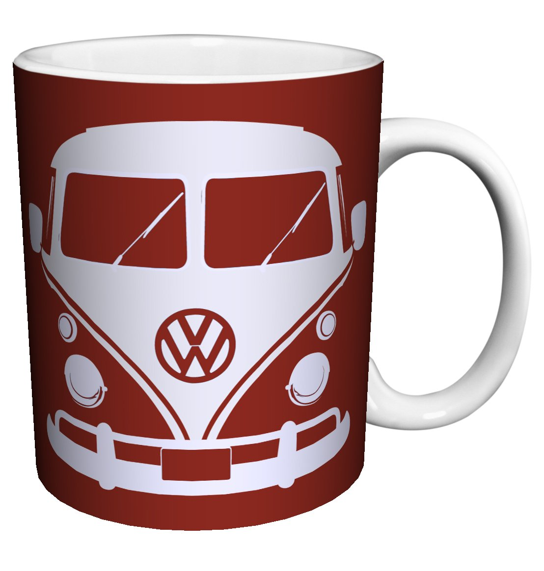 Volkswagen VW Camper Van Home is Where You Park It Vintage Illustrated Car Art Saying Porcelain Gift Coffee (Tea, Cocoa) 11 Oz. Mug