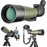 Gosky 20-60 X 80 Porro Prism Spotting Scope- Waterproof Scope for Bird watching Target Shooting Archery Range Outdoor Activities (20-60x80 Scope+Phone Mount+SLR Mount for Canon)