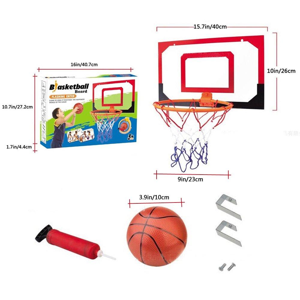 nadalan子供の壁マウントプラスチックミニバスケットボールボードBackboard Netフープセット B0781BV9ZY