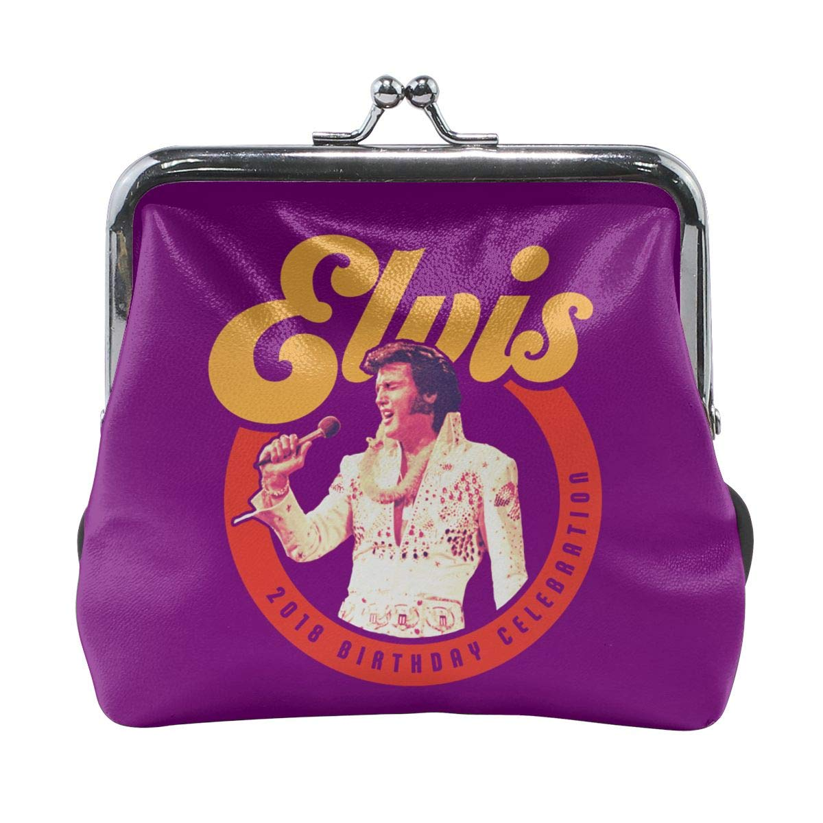 Elvis Presley Logo Coin Purse Pouch Kiss-lock Change Purse Wallets