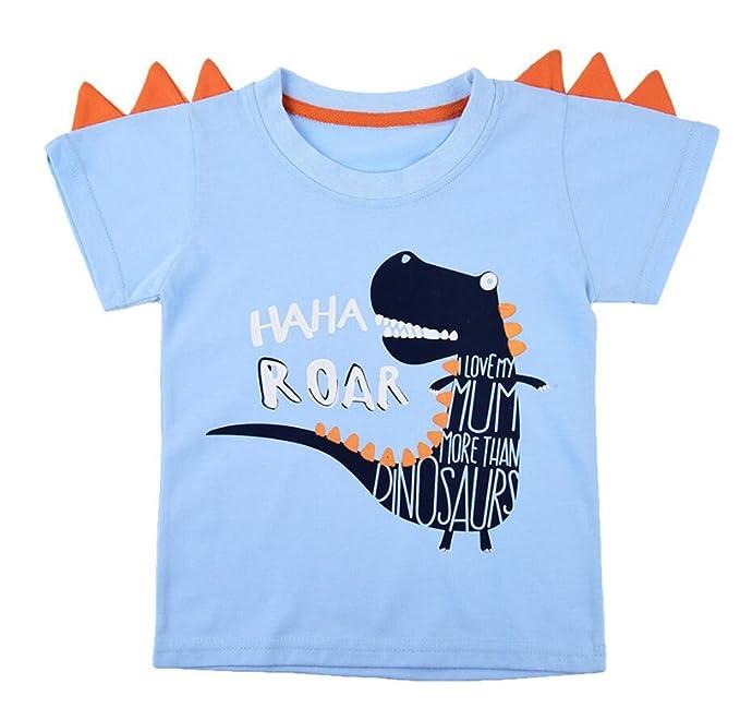 ZLFT Kids Boys Camiseta de Manga Corta de Dinosaurio de Navidad Pullover  Camiseta Top de Algodón con Cuerno 2-10 Años  Amazon.es  Ropa y accesorios 3c336687d513c