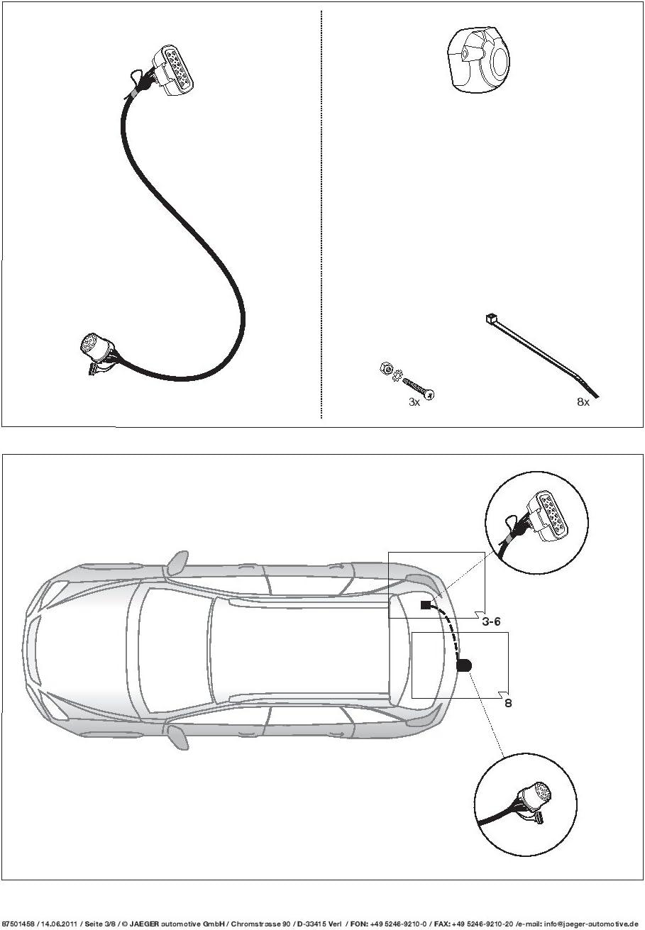 AHK Abnehmbare Anh/ängerkupplung mit 13p Spezifischer E-Satz UT280COR56ZCM//WS21500566DE1 UmbraRimorchi Opel Antara SUV 4WD 2006
