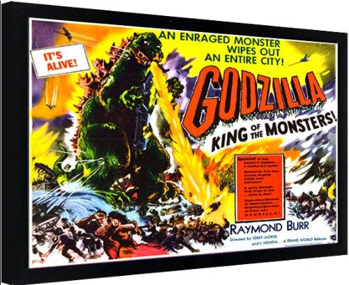 Framed Godzilla Movie Classic Sci-fi Poster