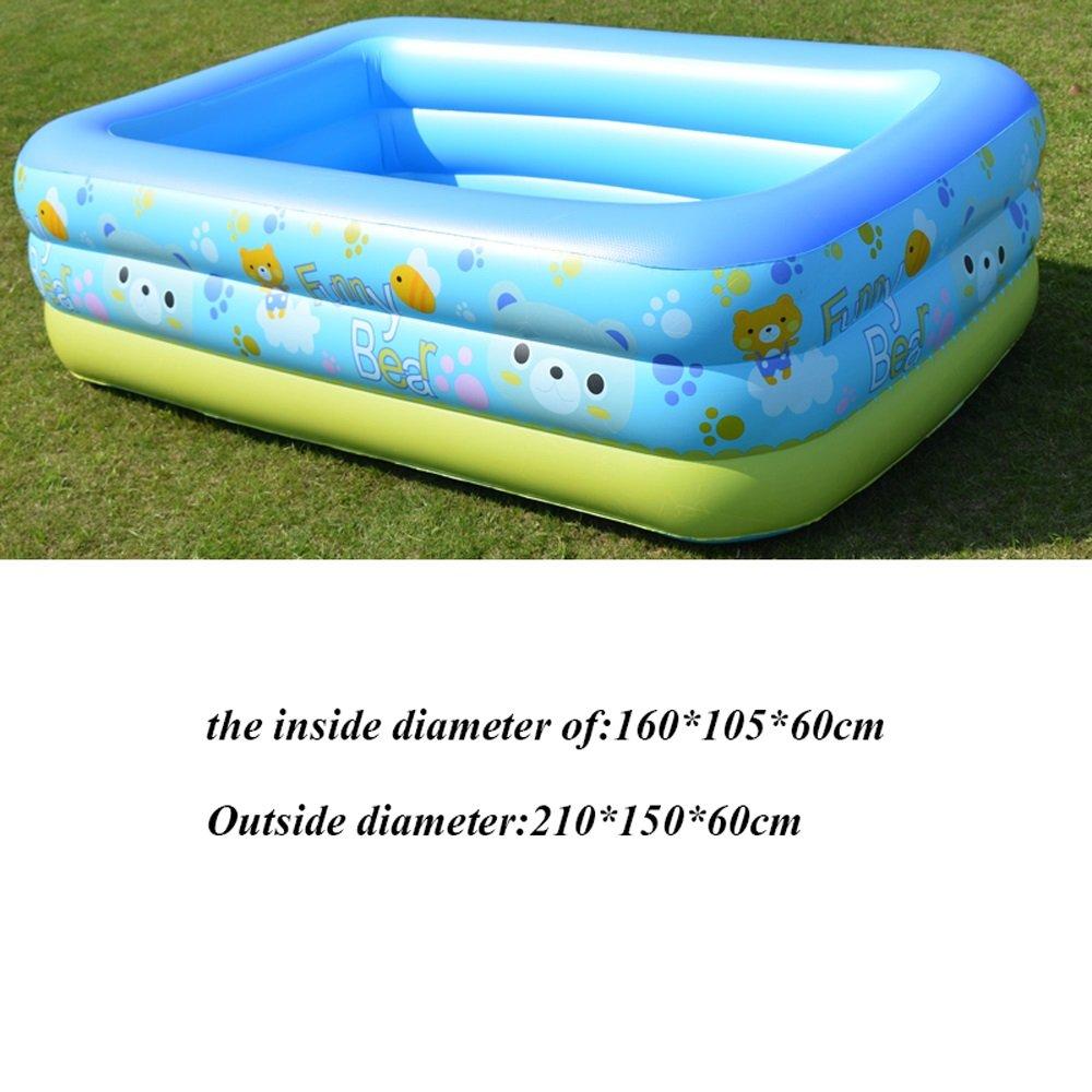 CHUANGCHUANG Piscina Gonfiabile Piscina per Il Nuoto a casa Piscina per Bambini Imbottita di Grandi Dimensioni per Adulti (Dimensioni   21)