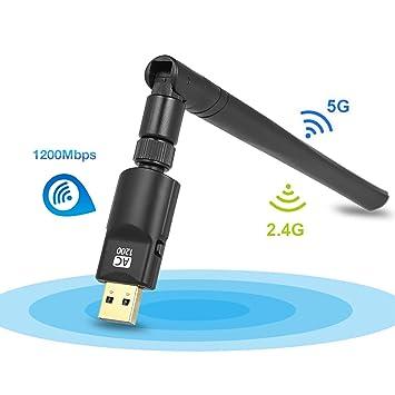 Adaptador WiFi de 1200 m YILONG de Doble Banda 2,4 GHz/5 GHz ...