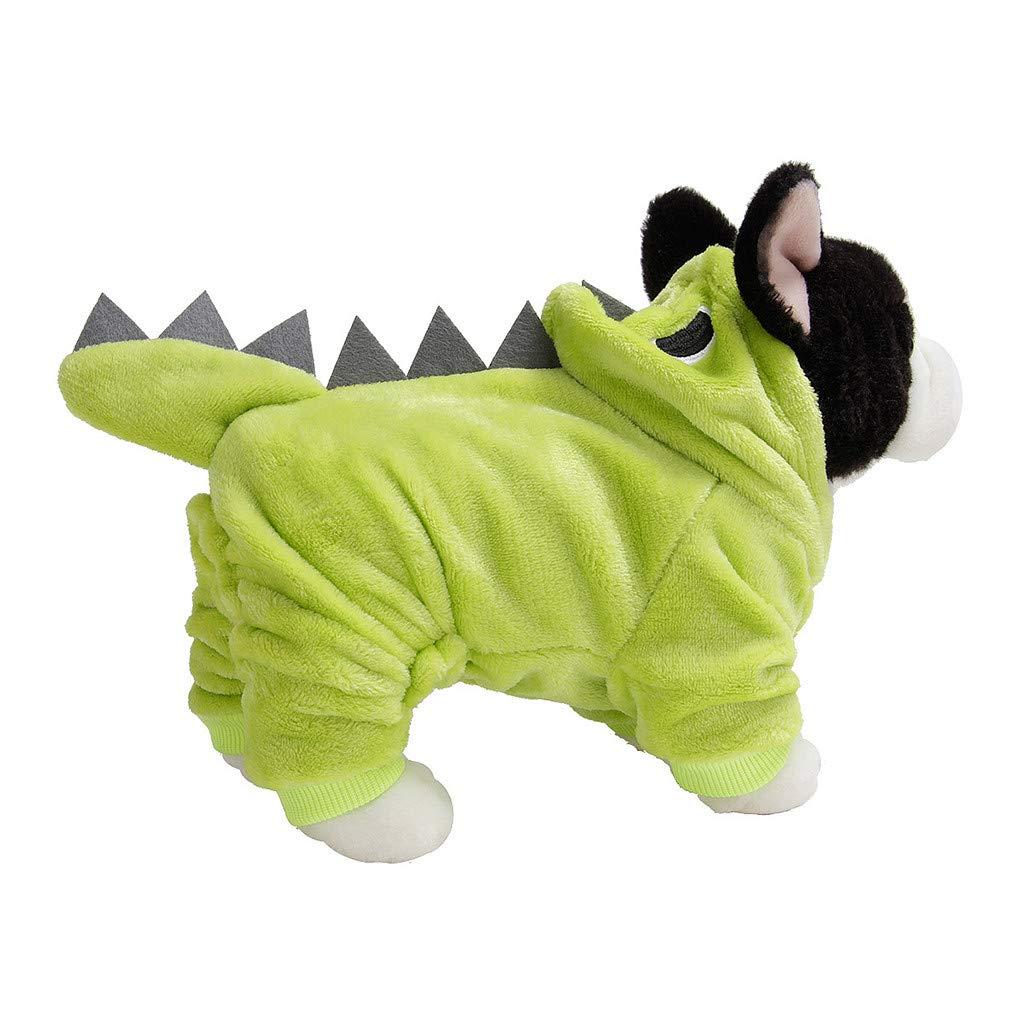 Saingace Cane /& Gatto Cosplay Dinosauro Cappotto con Cappuccio,Inverno Vestiti Caldi per Cani Adorabile Cane Decorazione Costumi