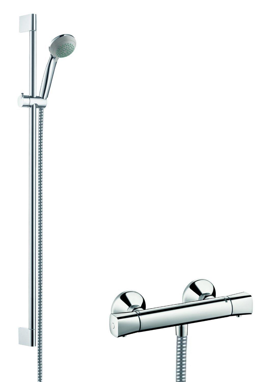 0,90m Hansgrohe 27080000 Crometta 85 Vario combinaci/ón de set de ducha y termostato cromo
