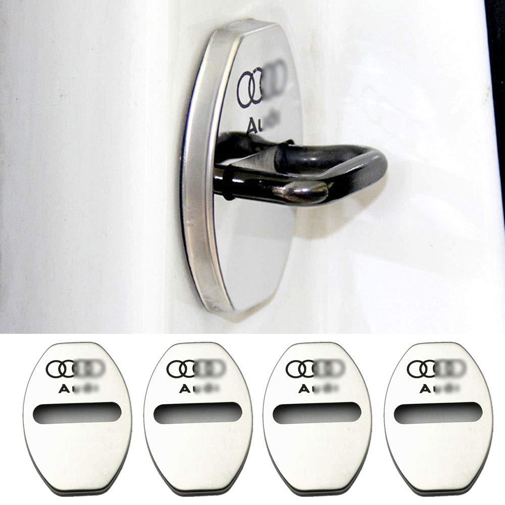 Geeignet f/ür Audi A3 A4L A6L Q3 Q5 T/ürschlossabdeckung T/ürschloss Edelstahl Rostabdeckung,Black YYD 4 ST/ÜCKE Audi Edelstahl T/ürschlossabdeckung