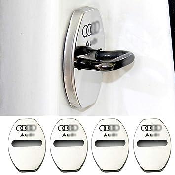 YYD 4 ST/ÜCKE Audi Edelstahl T/ürschlossabdeckung Geeignet f/ür Audi A3 A4L A6L Q3 Q5 T/ürschlossabdeckung T/ürschloss Edelstahl Rostabdeckung,Blue