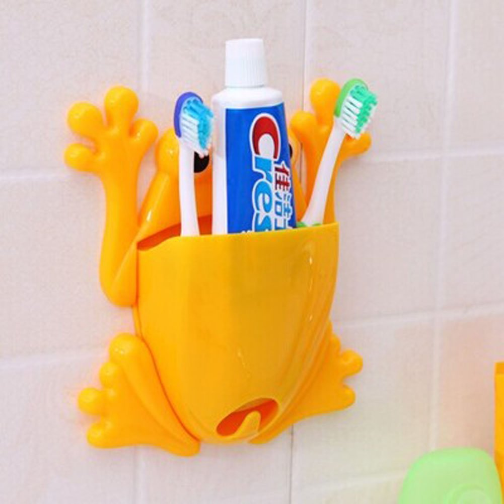 Amazon.com: Yellow Frog Toothbrush Holder , Wall-hung Type: Home ...