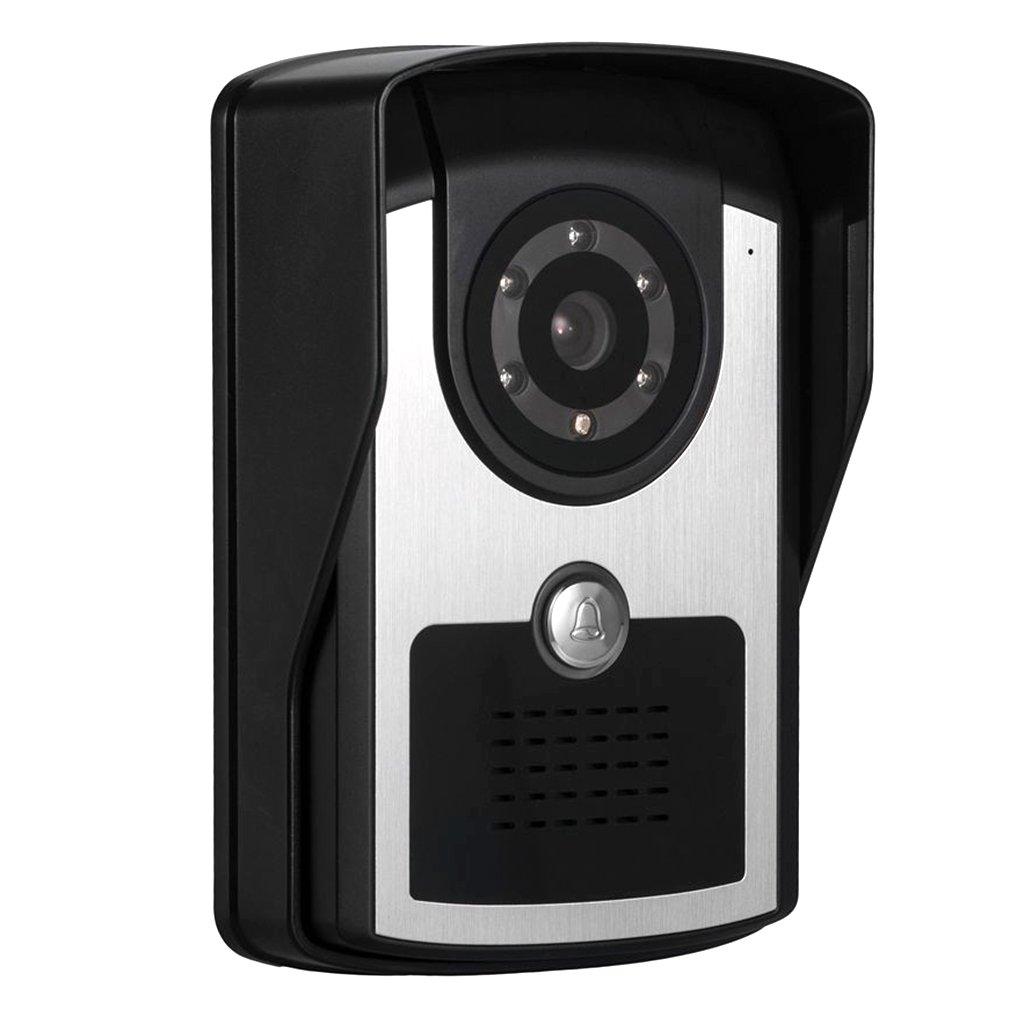 Baoblaze Video Türklingel Wi-Fi Video Türsprechanlage mit EU Stecker (Schwarz), Nachtsicht und Bewegungsmelder