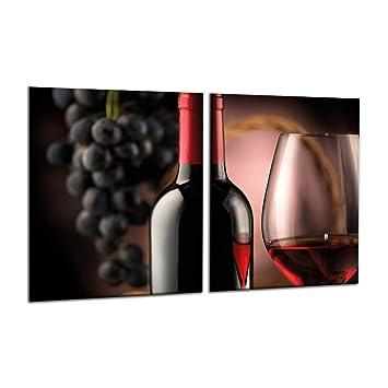Compra decorwelt | para cubrir la vitrocerámica Vino Rojo ...