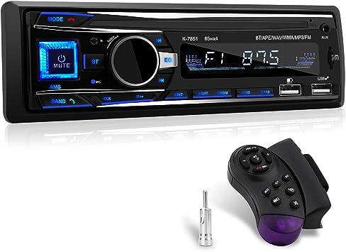 Autoradio Mit Bluetooth Freisprecheinrichtung 1 Din Elektronik