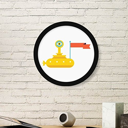 DIYthinker Universe and Alien Spaceship Round Picture Frame Art Prints of Paintings Home Wall Decal - Pictures Alien