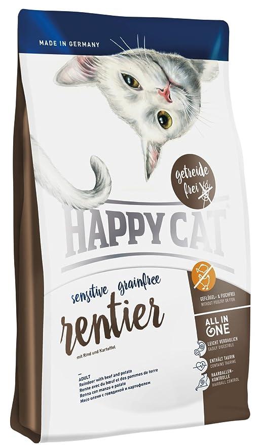 Happy Cat - Alimento para Mascotas sin Grano de Reno, 4 kg: Amazon ...
