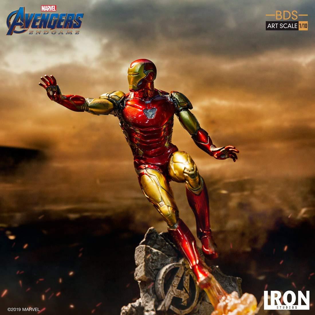 Iron Studios 1/10 スケール アイアンマン アベンジャーズ エンドゲーム Iron Man Mark LXXXV BDS B07S2XPTTV