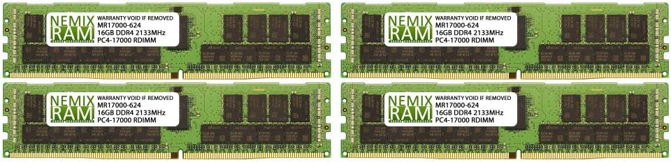 4x16GB RDIMM Memory NEMIX RAM NE3302-H055F for NEC Express5800//A1040d 64GB