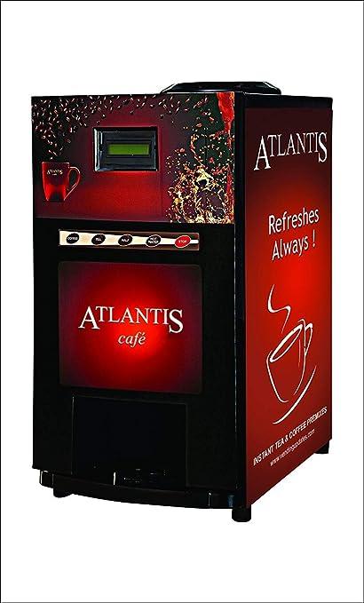 ATLANTIS 2 Lane Tea and Coffee Metal Mini Vending Machine (Refreshes Always)