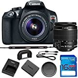 Canon EOS Rebel T6 DSLR Camera w/EF-S 18-55mm f/3.5-5.6 IS II Lens with 16GB SD Memory Card, Deluxe Carry Case Bundle