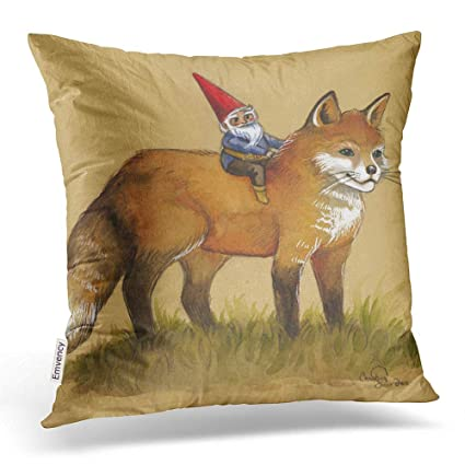 standing FOX cushion cover photo 18x18