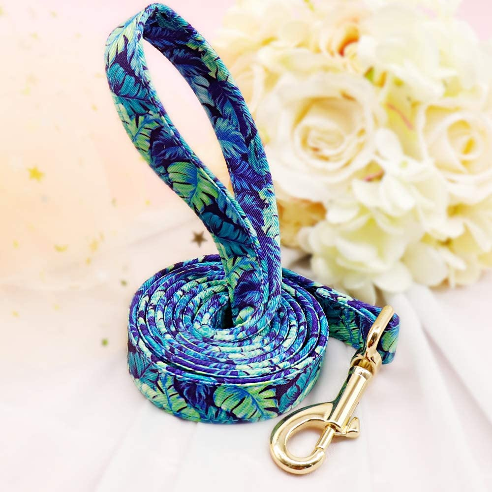 Durable Strong Nylon Light-Weight Dog Lead,120cm*2cm,Black White Grid Beirui Floral Dog Lead for Small Medium Large Dogs