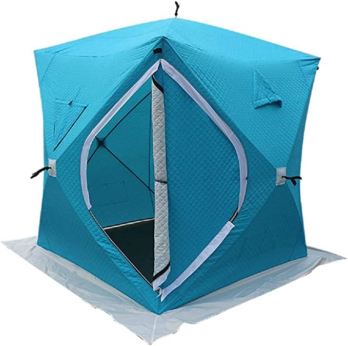 LOY 3 4 Persons Ice Fishing Tent, Portable Thick Cotton and