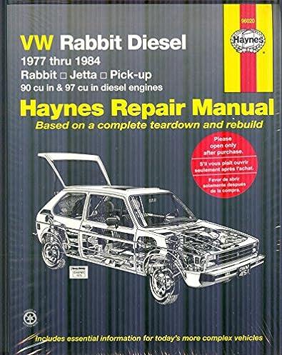 vw rabbit diesel 1977 thru 1984 haynes manuals haynes rh amazon com 2008 vw rabbit repair manual pdf 2008 vw rabbit owners manual