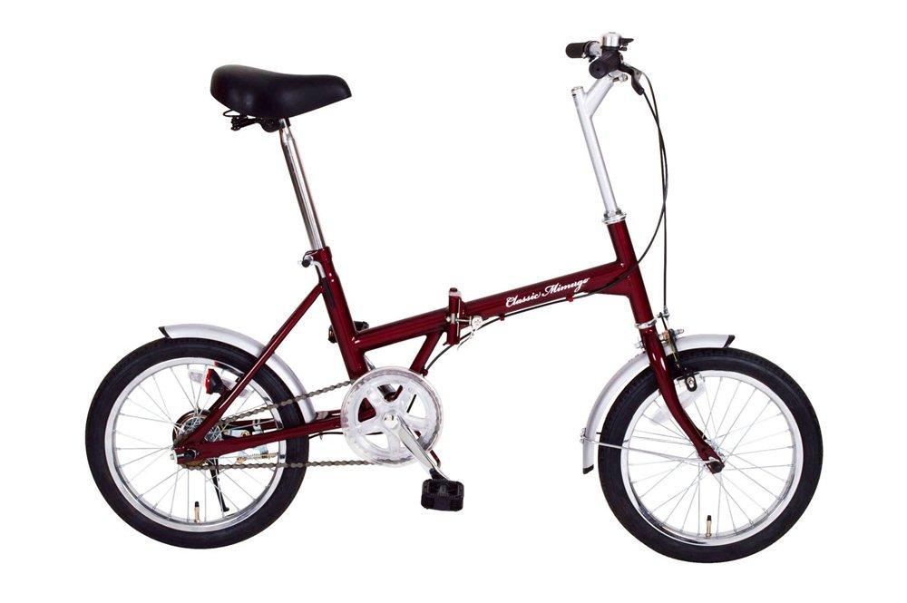 コンパクト! 16インチ 折畳自転車 クラシックレッド B010EOVVTK