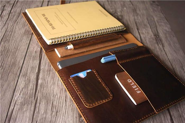 promo code 9b443 b615b Amazon.com: Leather Macbook 12 inch Case 13 Laptop Bag Mac Air ...