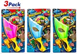 Water Balloon Slinger (Pack of 3) by JA-RU | Battle Pool Toy + 100 Balloons + Easy Filler. 2Chill | Item #719-3