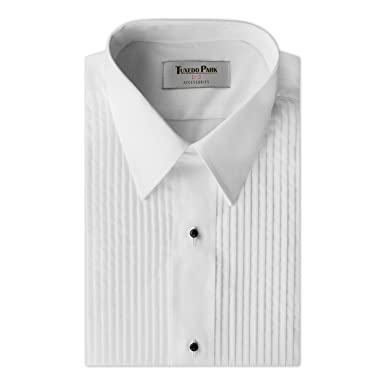 Tuxedo Shirt White 14 Pleat Laydown Collar At Amazon Mens