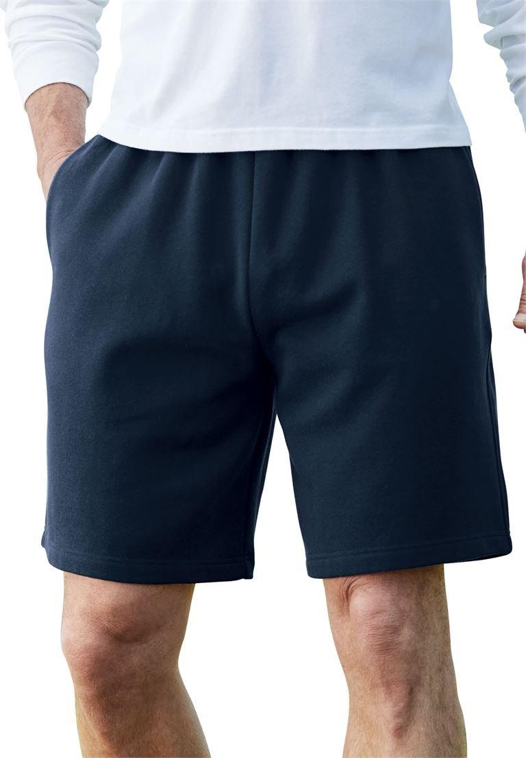 KingSize Men's Big & Tall Fleece Comfort Shorts, Navy Tall-6Xl
