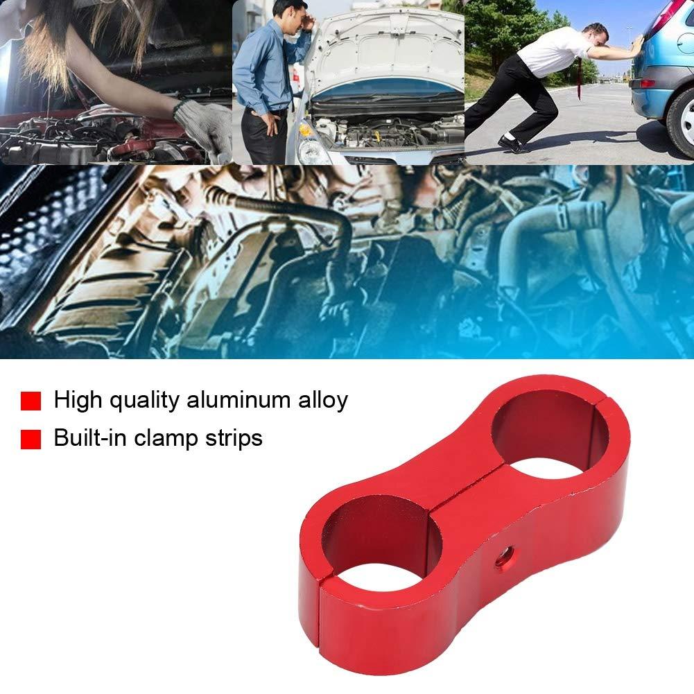 AN6 Abrazadera de separador de manguera trenzada Adaptador de montaje de l/ínea de manguera de combustible de aceite de aluminio Abrazadera de l/ínea de manguera